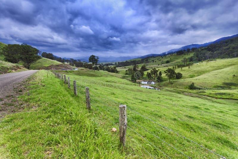 BTops Глостер покрывает ферма дороги стоковое изображение