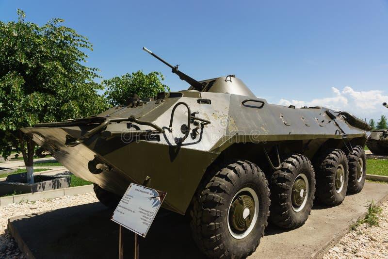 BTR-70 — Char d'assaut soviétique — le combat a roulé le véhicule blindé de flottement pour le transport du personnel de image stock