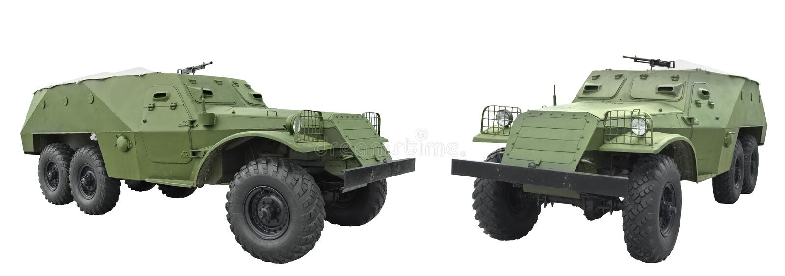 BTR-152 - armored personnel carrier. Used in the armed forces of the Soviet Army in 1950 royalty free stock photography