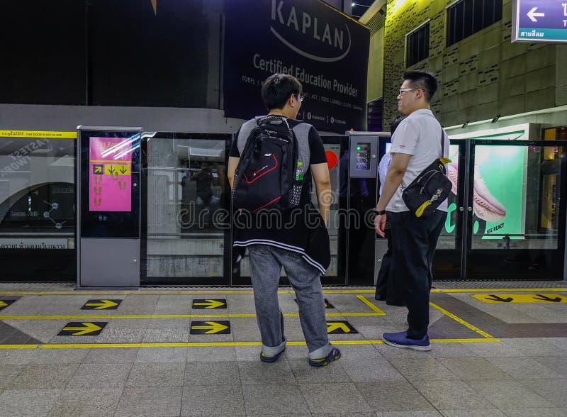 BTS-post in Bangkok, Thailand stock foto's