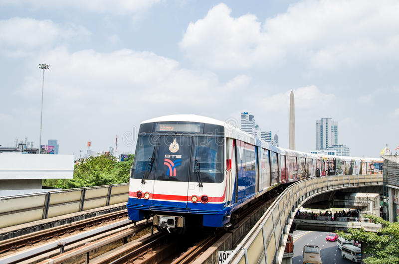 BTS sky train royalty free stock images