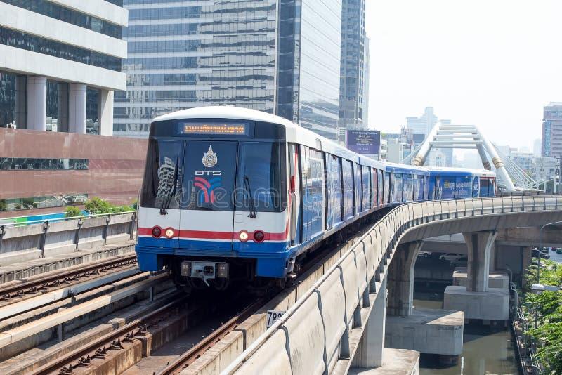 BTS Skytrain在曼谷,泰国 库存图片