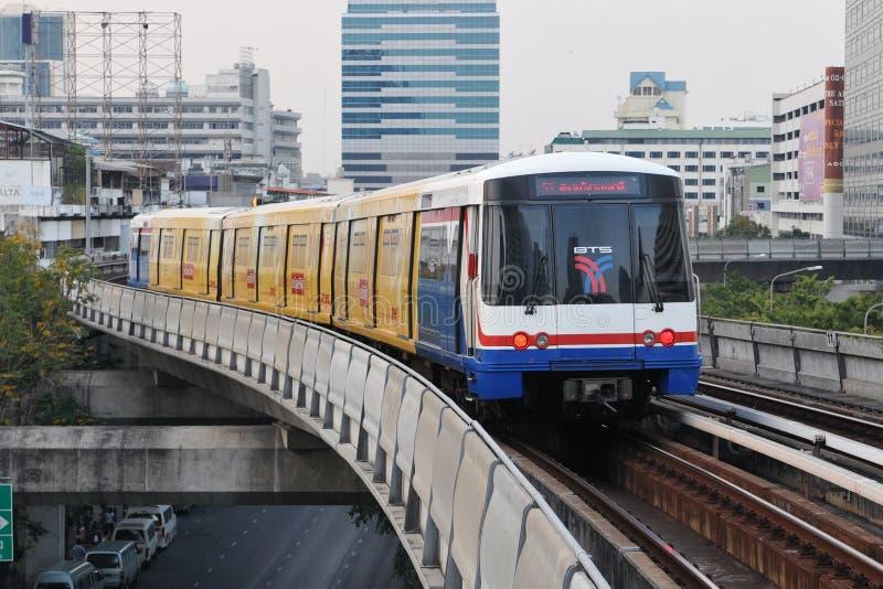 BTS Skytrain in Bangkok royalty free stock image