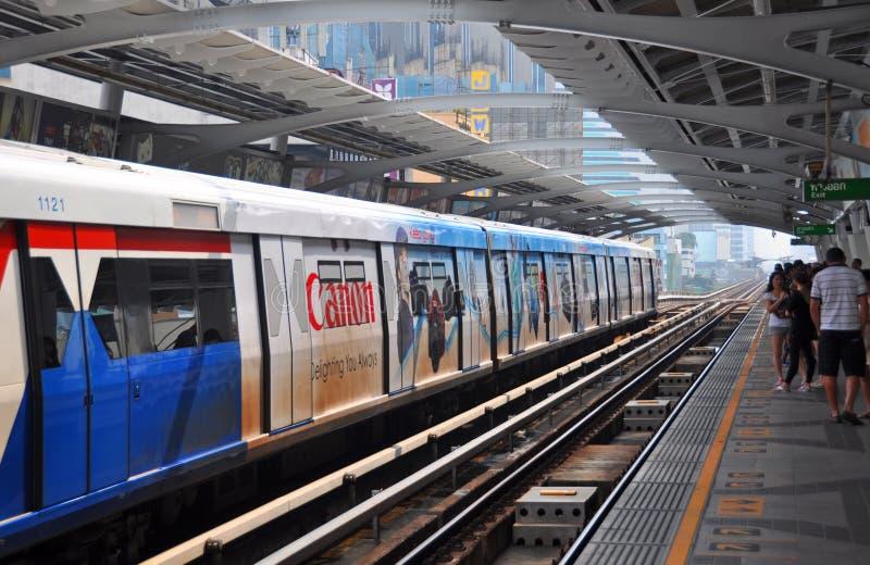 BTS Skytrain in Bangkok Celebrates Thirteen Years royalty free stock photos
