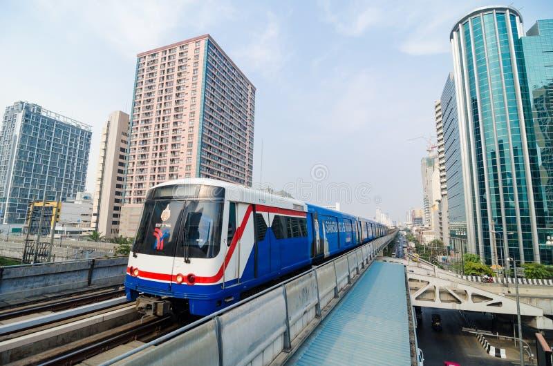 BTS train of Bangkok Thailand. stock images