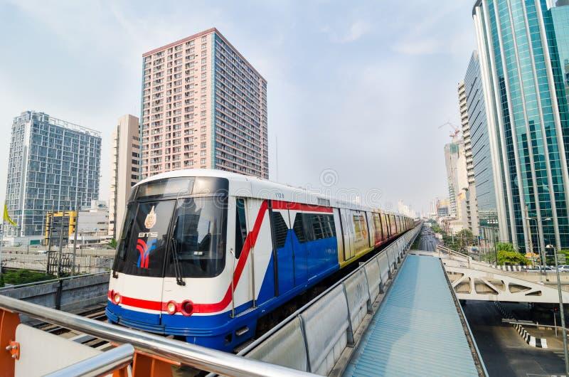 BTS train of Bangkok Thailand. stock photos