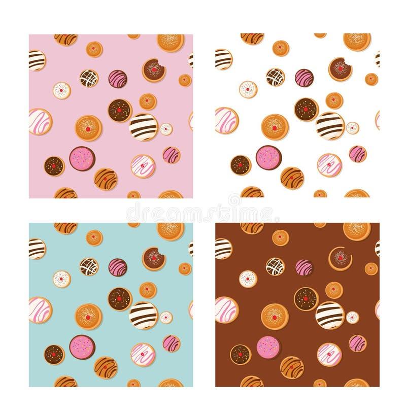 Buñuelo de Jánuca, símbolo judío del día de fiesta tradicionales dulces cuecen Modelo inconsútil libre illustration