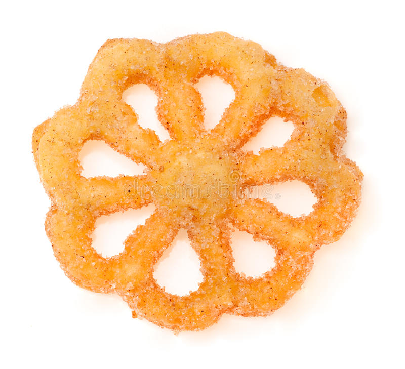 Buñuelo, mexican sweet. Cruller. royalty free stock image