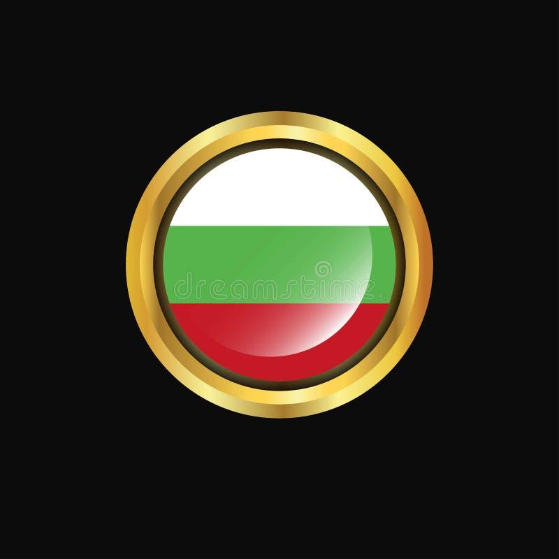 Bułgaria chorągwiany Złoty guzik ilustracja wektor
