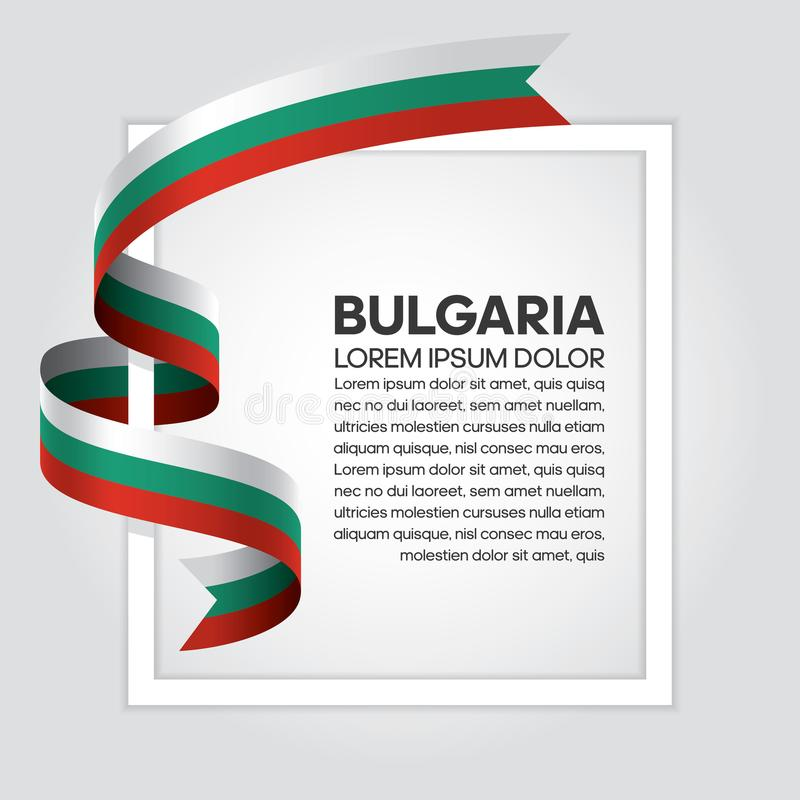 Bułgaria flaga tło ilustracji