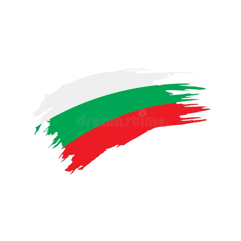 Bułgaria flaga, wektorowa ilustracja royalty ilustracja