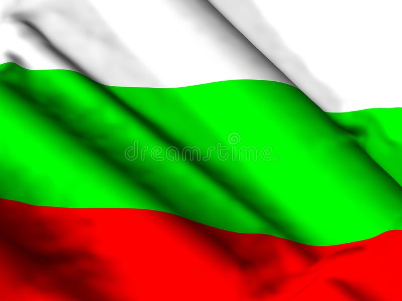 Bułgaria flagi tła 3d ilustracja ilustracja wektor