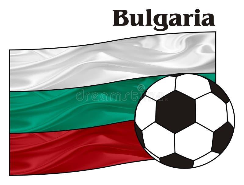 Bułgaria i futbol ilustracja wektor