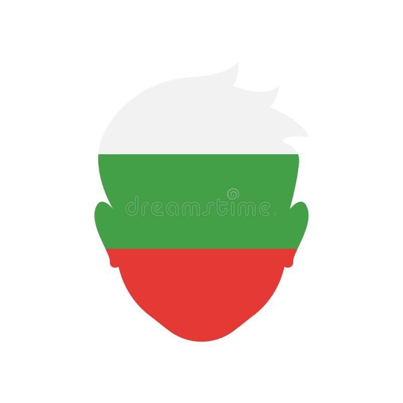 Bułgaria ikony wektoru znak i symbol odizolowywający na białym backgroun royalty ilustracja
