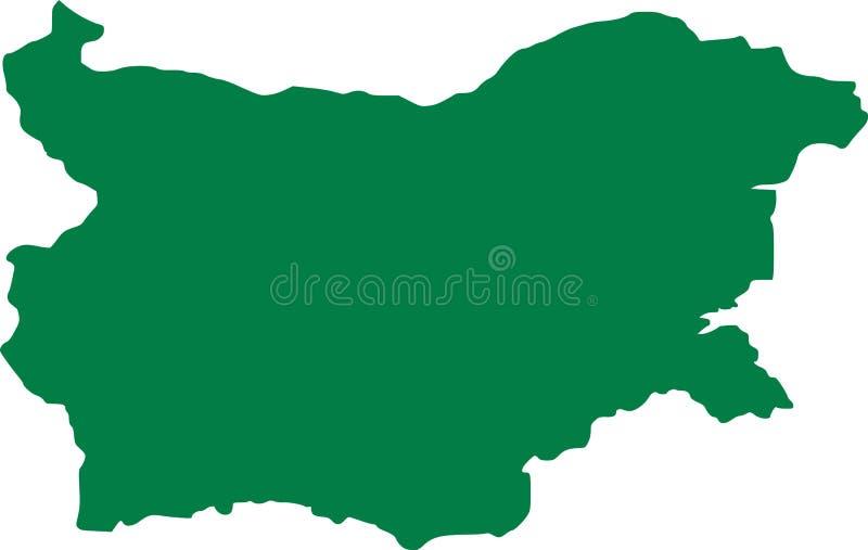Bułgaria mapy zieleń ilustracji