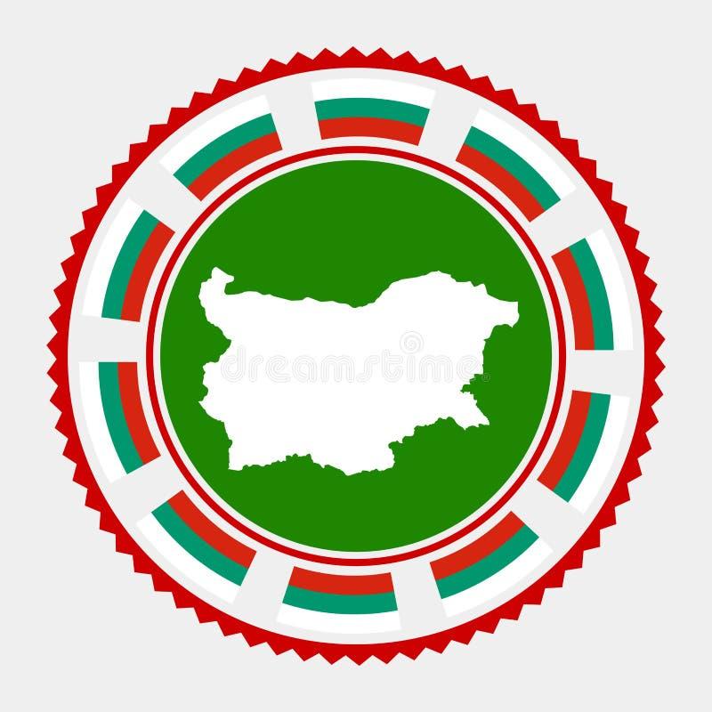Bułgaria mieszkania znaczek royalty ilustracja