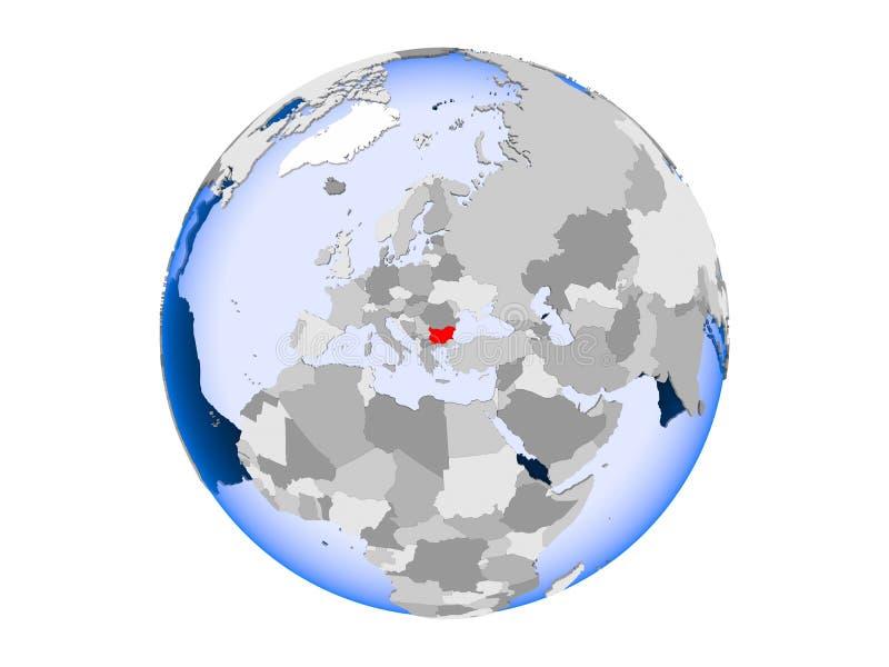 Bułgaria na kuli ziemskiej odizolowywającej royalty ilustracja