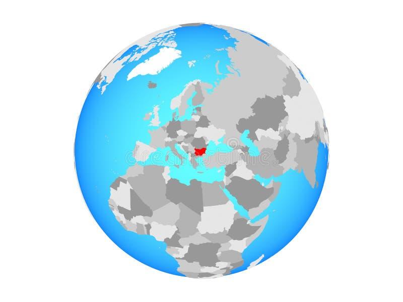 Bułgaria na kuli ziemskiej odizolowywającej ilustracji