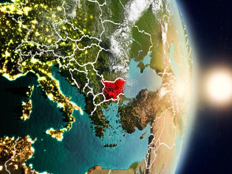 Bułgaria podczas wschodu słońca royalty ilustracja