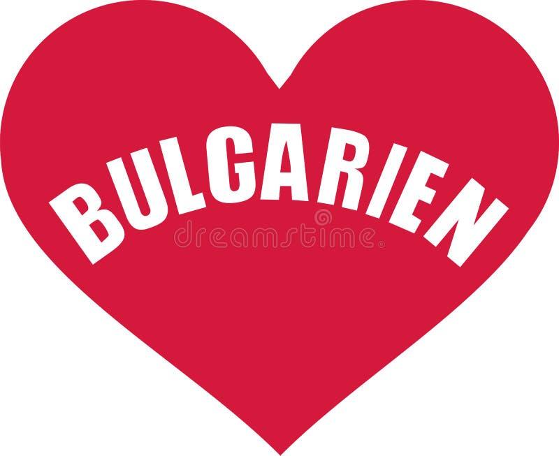 Bułgaria serce - niemiec royalty ilustracja