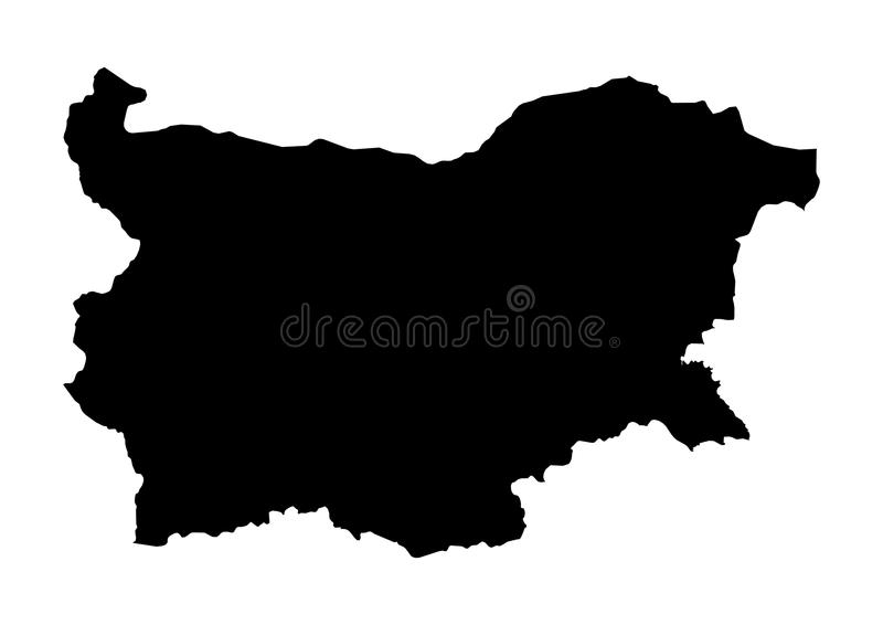 Bułgaria stanu mapy wektoru sylwetka royalty ilustracja