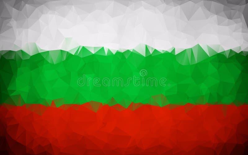 Bułgaria wieloboka flaga tekstura ilustracji