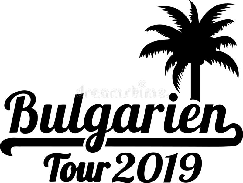 Bułgaria wycieczki turysycznej palmtree 2019 niemiec ilustracja wektor