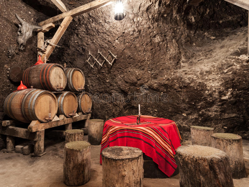 Bułgarscy wino lochy fotografia stock