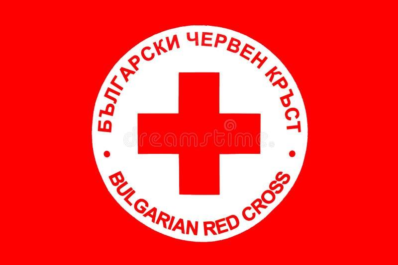 Bułgarska czerwony krzyż ikona obraz stock