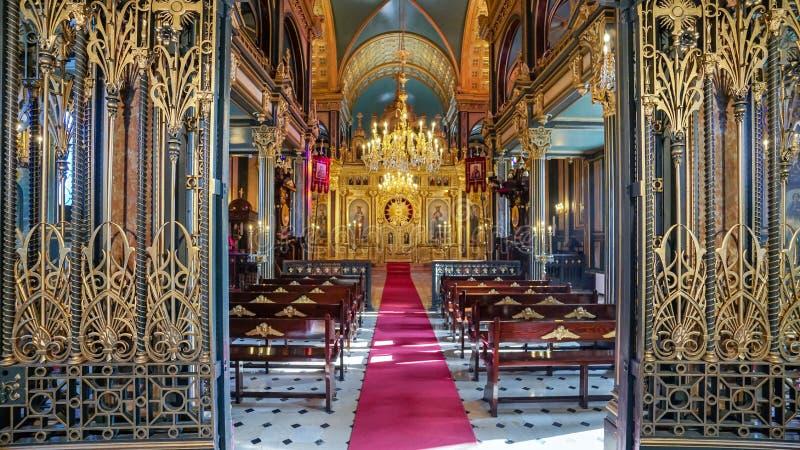 Bułgarski St Stephen kościół żelaza kościół w Złotym rogu, Istan zdjęcie stock