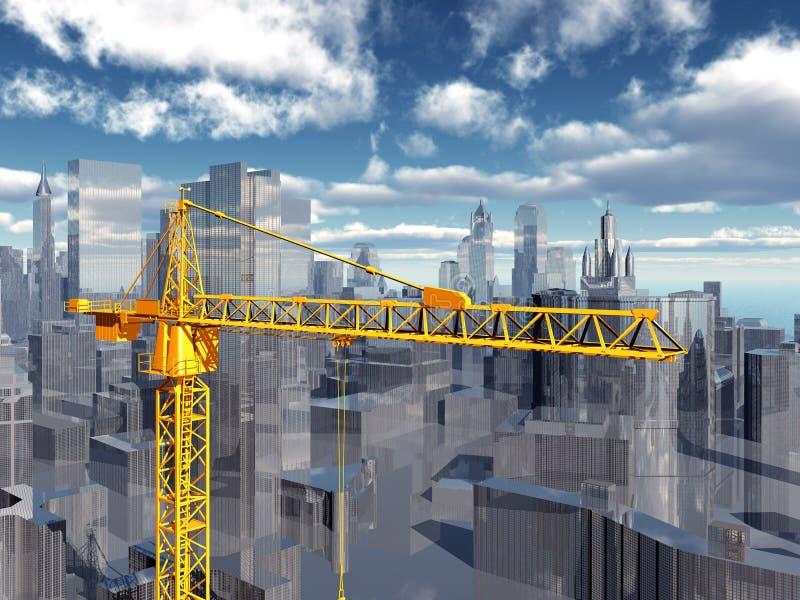 bu construction residential vektor illustrationer