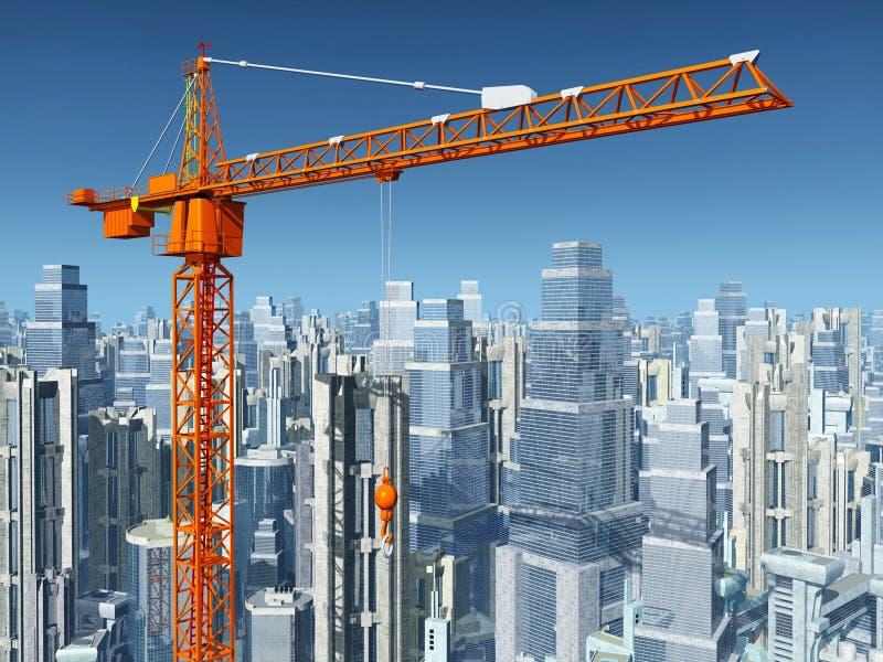 bu construction residential royaltyfri illustrationer