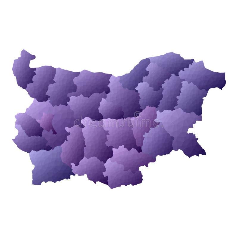 Bu?garia mapa ilustracja wektor