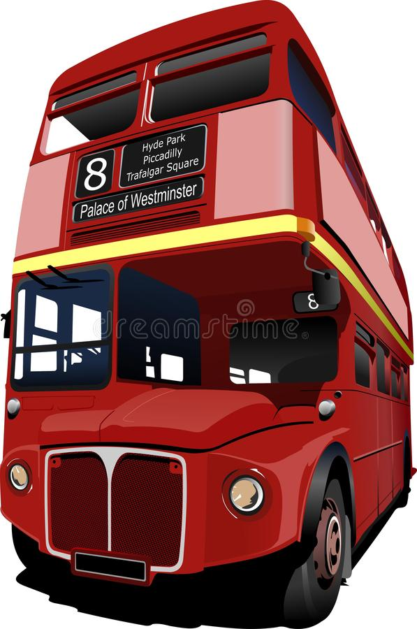 BU rojos del autobús de dos pisos de Londres libre illustration