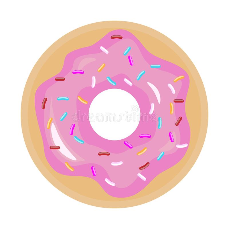 Bu?uelo con el esmalte rosado Icono del bu?uelo Ejemplo plano del vector del color libre illustration
