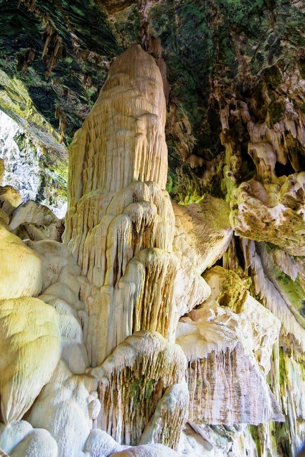 Bua Boke Cave Natural. Beautiful nature of stalactite and stalagmite at Bua Boke Cave Natural Trail on Ko Wua Ta Lap Island in Mu Ko Ang Thong marine national stock photo