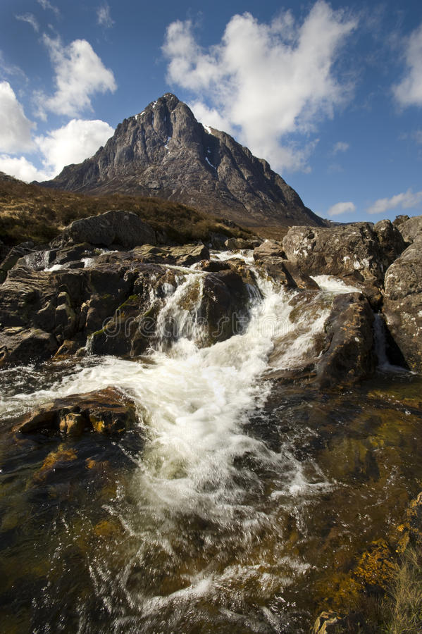 Download Buachaille Etive Mor stock photo. Image of water, waterfall - 12680610