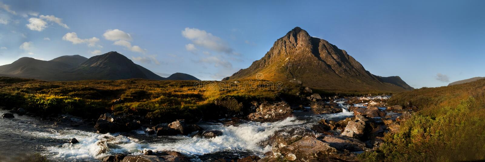 Download Buachaille Etive Mor stock image. Image of waterfall - 12680687