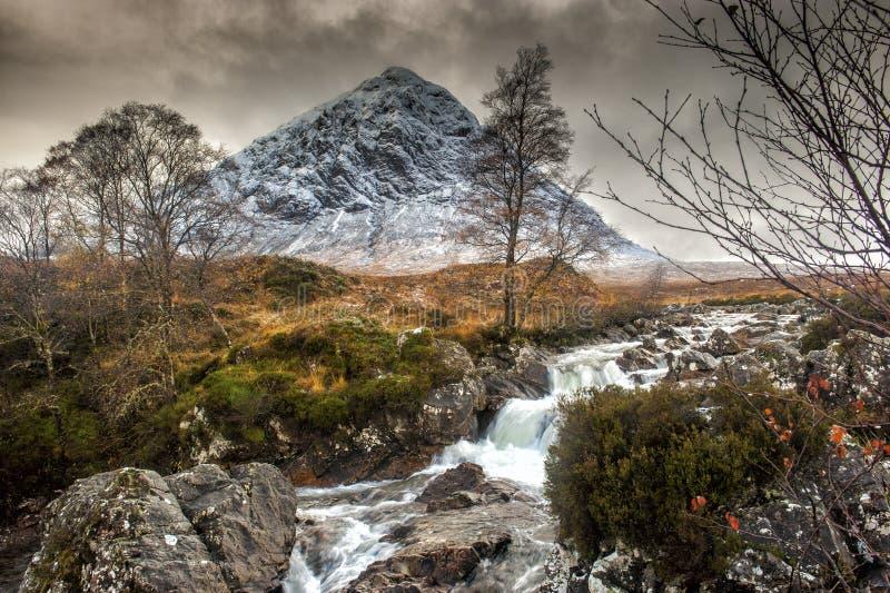 Buachaille Etive Mor, Glencoe in de Winter royalty-vrije stock foto