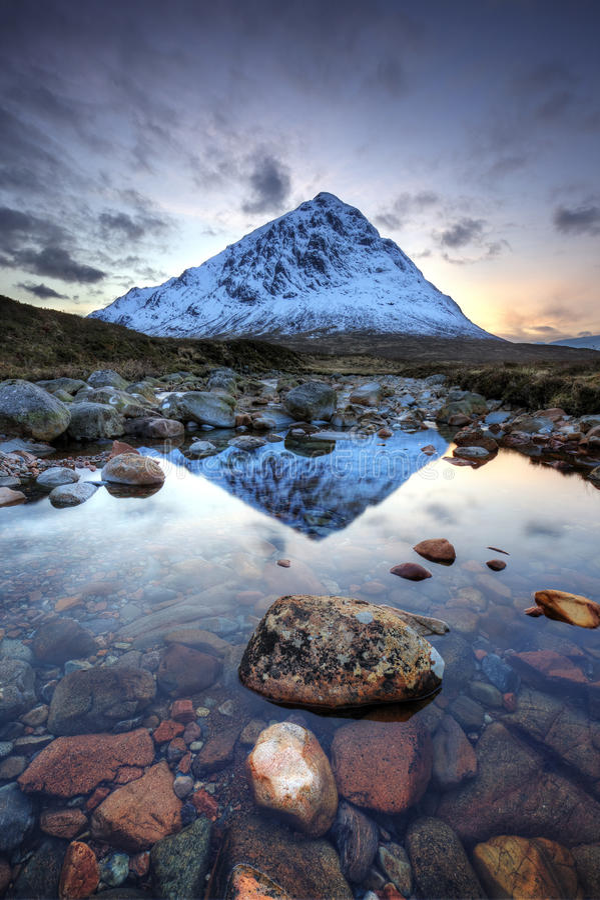 Buachaille Etive Mor Scotland fotos de stock royalty free