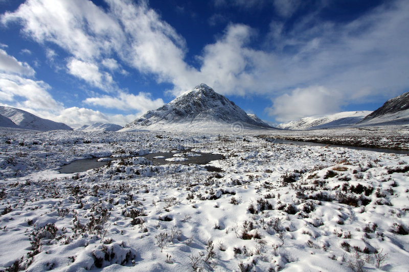 Download The Buachoille Etive stock photo. Image of great, winter - 4525662