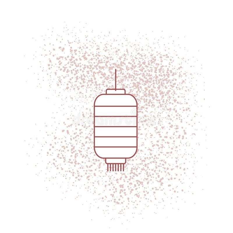 - Buat konten il imlek - cartella di Bikin - Bikin konten - la linea lanterna cinese dello stiker del buat per la carta da parati illustrazione vettoriale