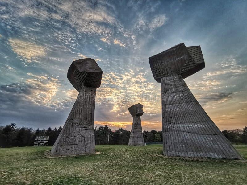 Bubanj herdenkingspark, NOS, Servië stock foto