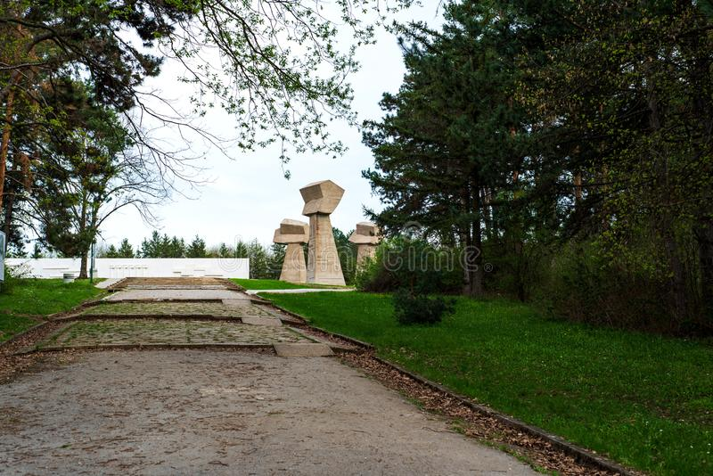 Bubanj memorial park in Nis, Serbia royalty free stock photo