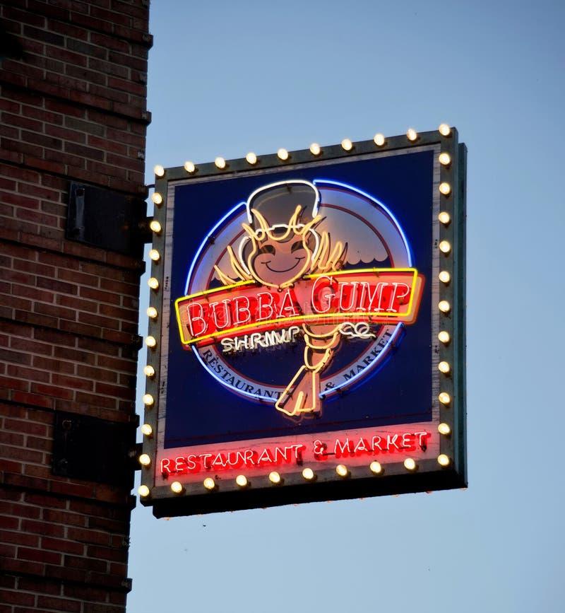 Bubba Gump Shrimp Company Chicago, IL royaltyfri bild