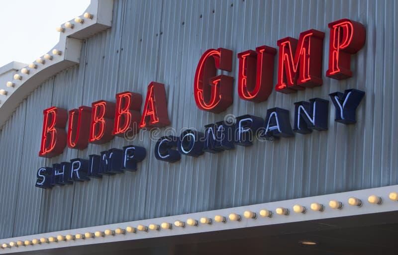 Bubba Gump Shrimp Company Entrance tecken royaltyfri fotografi