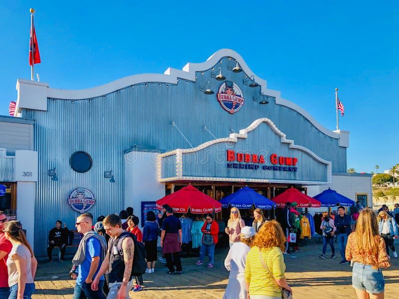 Bubba Gump Shrimp Company op Santa Monica-pijler royalty-vrije stock foto's