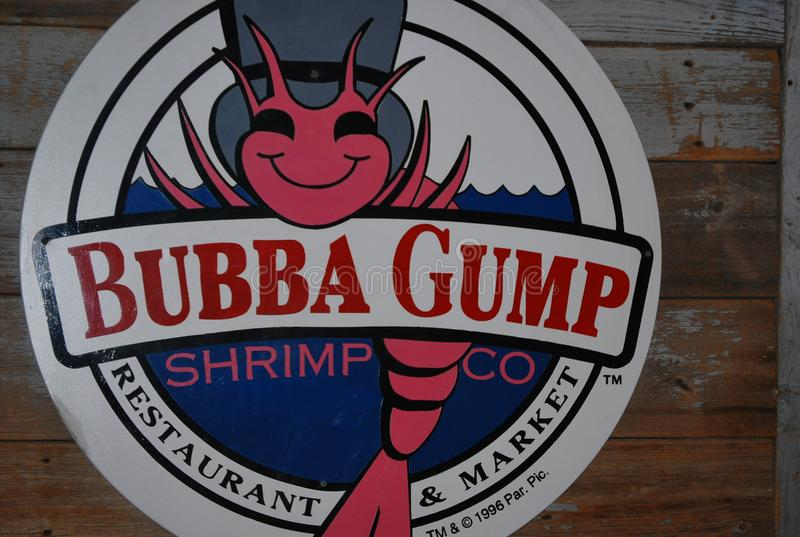 Bubba Gump Shrimp Company restaurant in New York City. A Bubba Gump Shrimp Company restaurant in the center of New York City, in the USA. Decorations on the stock photography