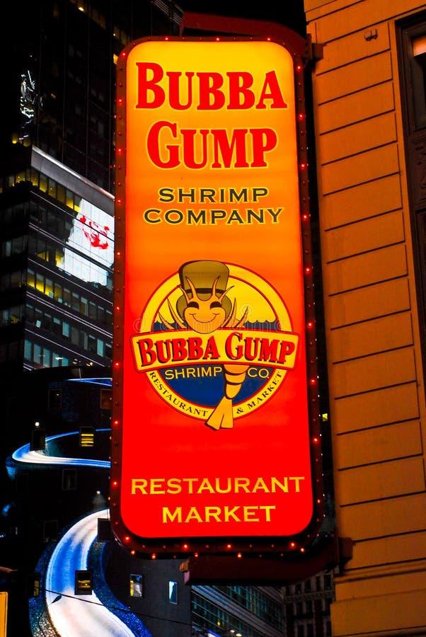Bubba Gump Shrimp Company, Times Square, NYC royalty-vrije stock fotografie