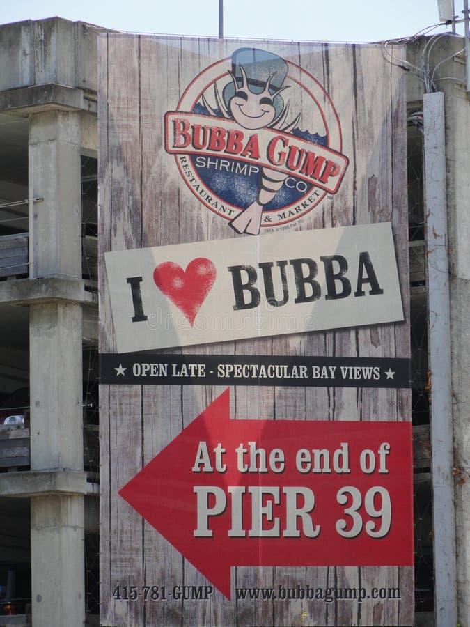 Bubba Gump Shrimp Restaurant Sign fotografering för bildbyråer